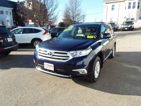 2012 Toyota Highlander for sale at FRIAS AUTO SALES LLC in Lawrence MA