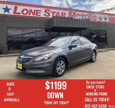 2012 Honda Accord for sale at LONE STAR MOTORS II in Fort Worth TX