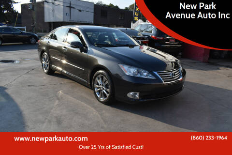 2012 Lexus ES 350 for sale at New Park Avenue Auto Inc in Hartford CT