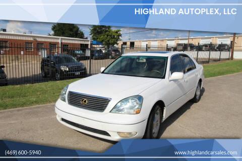 2002 Lexus LS 430 for sale at Highland Autoplex, LLC in Dallas TX