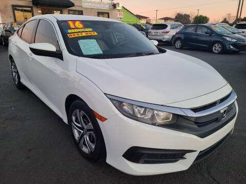2016 Honda Civic for sale at Super Cars Sales Inc #1 in Oakdale CA