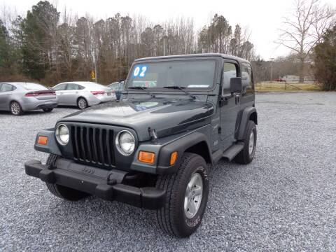 2002 Jeep Wrangler for sale at European Coach Werkes, Inc in Frankford DE