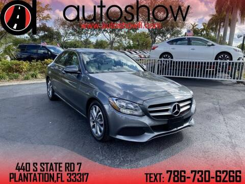 2018 Mercedes-Benz C-Class for sale at AUTOSHOW SALES & SERVICE in Plantation FL