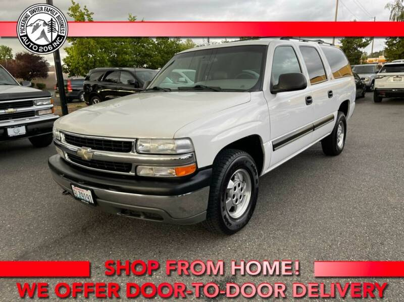 2001 Chevrolet Suburban for sale at Auto 206, Inc. in Kent WA