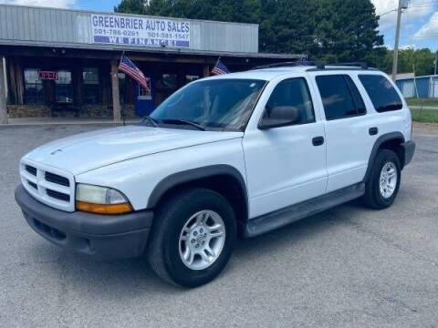 2003 Dodge Durango for sale at Greenbrier Auto Sales in Greenbrier AR