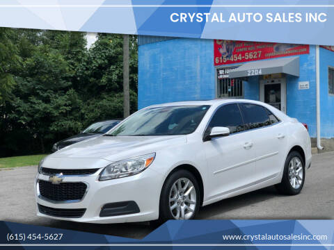 2015 Chevrolet Malibu for sale at Crystal Auto Sales Inc in Nashville TN