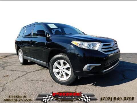 2012 Toyota Highlander for sale at PRIME MOTORS LLC in Arlington VA
