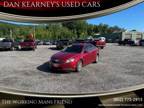 2012 Chevrolet Cruze for sale at DAN KEARNEY'S USED CARS in Center Rutland VT