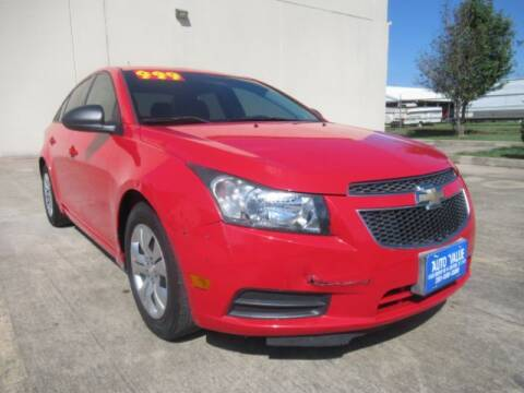 2014 Chevrolet Cruze for sale at AUTO VALUE FINANCE INC in Stafford TX