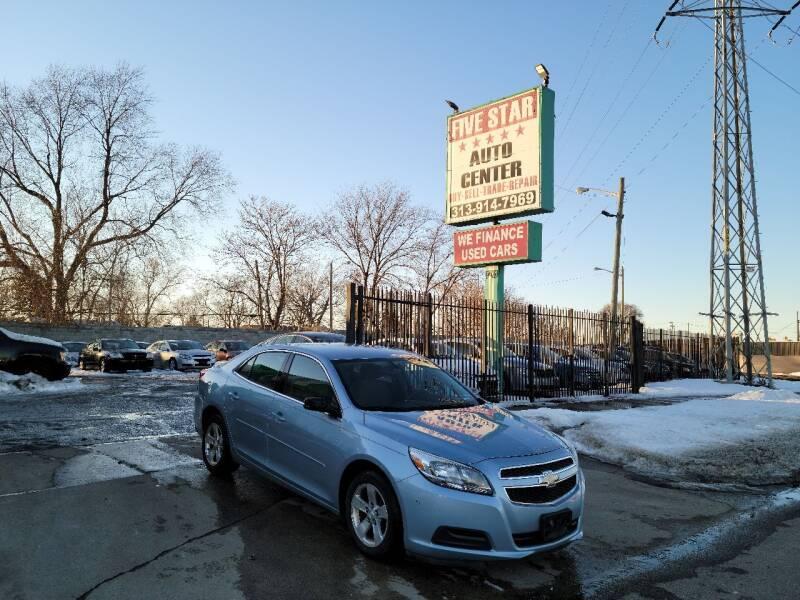2013 Chevrolet Malibu for sale at Five Star Auto Center in Detroit MI