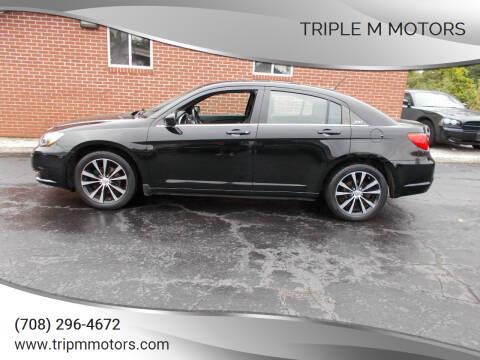 2013 Chrysler 200 for sale at Triple M Motors in Saint John IN