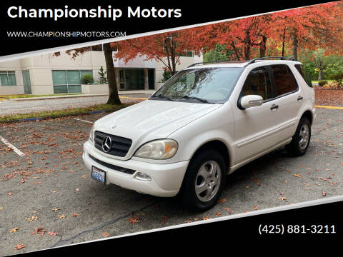 2005 Mercedes-Benz M-Class for sale at Championship Motors in Redmond WA