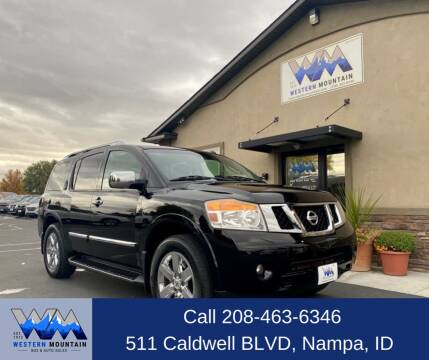 2010 Nissan Armada for sale at Western Mountain Bus & Auto Sales in Nampa ID