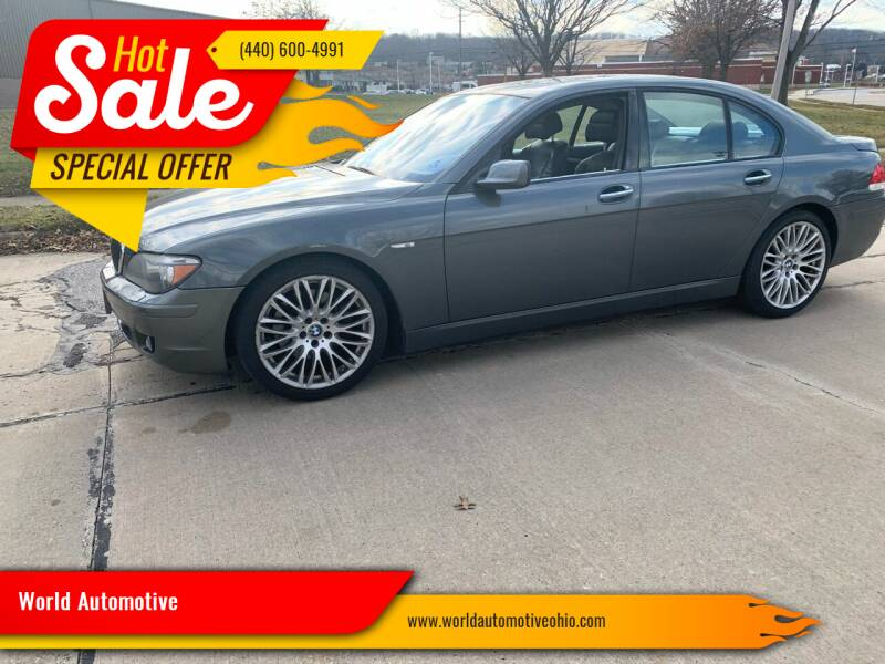 2008 BMW 7 Series for sale at World Automotive in Euclid OH