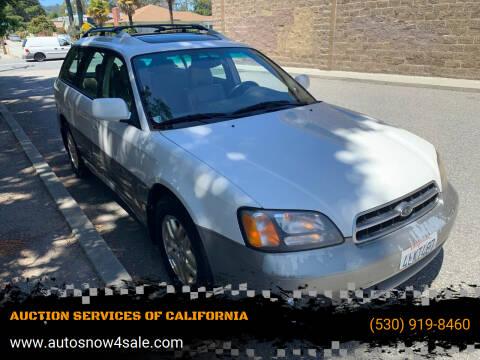 2000 Subaru Outback for sale at AUCTION SERVICES OF CALIFORNIA in El Dorado CA