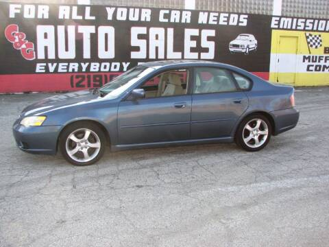 2006 Subaru Legacy for sale at C & G Auto Sales in Gary IN