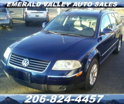 2004 Volkswagen Passat for sale at Emerald Valley Auto Sales in Des Moines WA