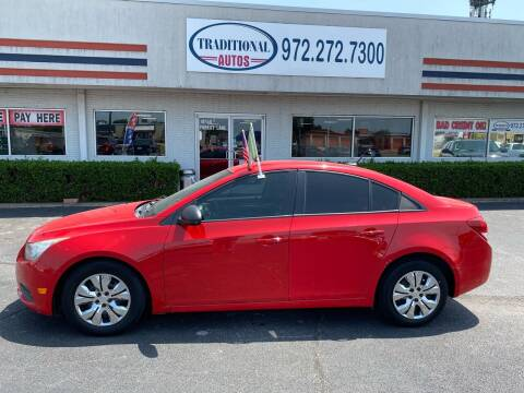 2014 Chevrolet Cruze for sale at Traditional Autos in Dallas TX