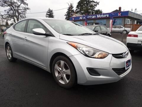 2011 Hyundai Elantra for sale at All American Motors in Tacoma WA