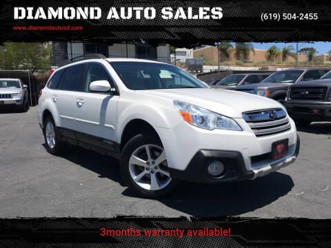 2014 Subaru Outback for sale at DIAMOND AUTO SALES in El Cajon CA
