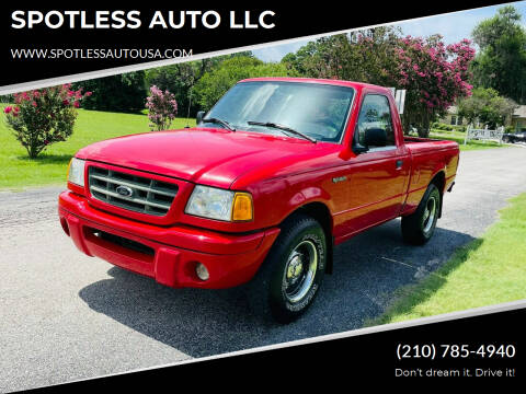 2001 Ford Ranger for sale at SPOTLESS AUTO LLC in San Antonio TX