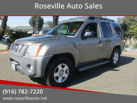 2006 Nissan Xterra for sale at Roseville Auto Sales in Roseville CA