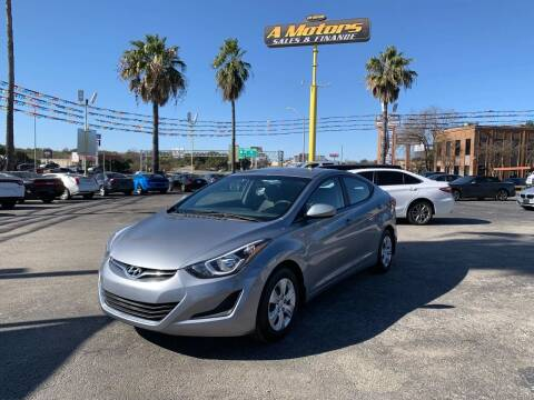 2016 Hyundai Elantra for sale at A MOTORS SALES AND FINANCE in San Antonio TX