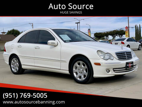 2006 Mercedes-Benz C-Class for sale at Auto Source in Banning CA