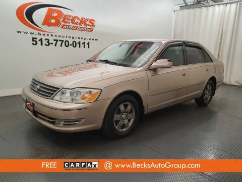2003 Toyota Avalon for sale at Becks Auto Group in Mason OH