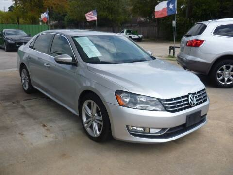 2012 Volkswagen Passat for sale at Auto Outlet Inc. in Houston TX