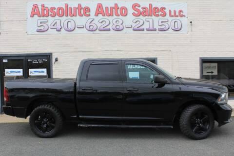 2014 RAM Ram Pickup 1500 for sale at Absolute Auto Sales in Fredericksburg VA