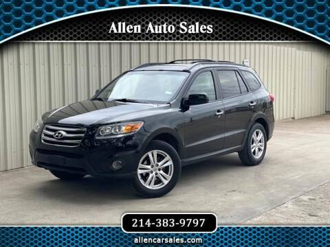 2012 Hyundai Santa Fe for sale at Allen Auto Sales in Dallas TX