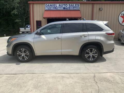 2016 Toyota Highlander for sale at Daniel Used Auto Sales in Dallas GA