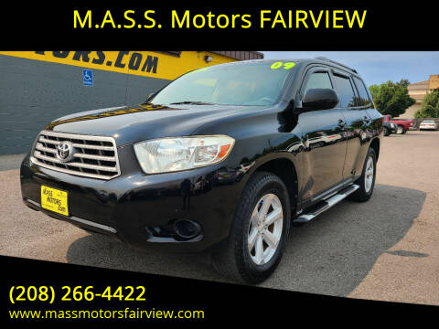 2009 Toyota Highlander for sale at M.A.S.S. Motors - Fairview in Boise ID