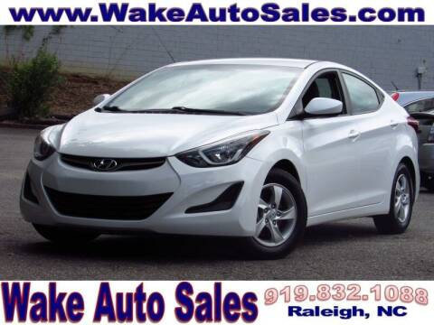 2015 Hyundai Elantra for sale at Wake Auto Sales Inc in Raleigh NC
