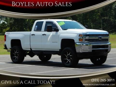 2016 Chevrolet Silverado 2500HD for sale at Boyles Auto Sales in Jasper AL