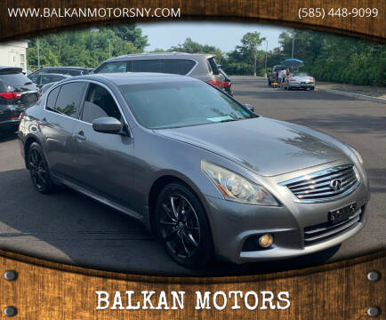 2013 Infiniti G37 Sedan for sale at BALKAN MOTORS in East Rochester NY