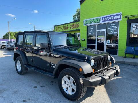 2012 Jeep Wrangler Unlimited for sale at Empire Auto Group in Indianapolis IN