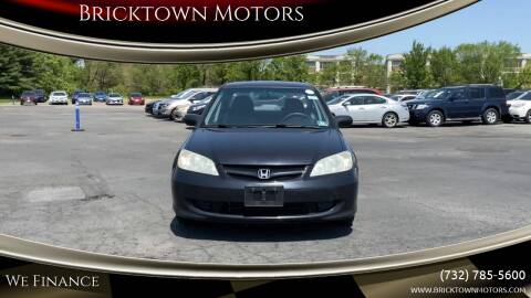 2005 Honda Civic for sale at Bricktown Motors in Brick NJ