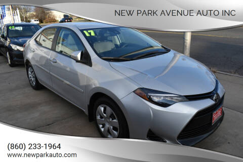 2017 Toyota Corolla for sale at New Park Avenue Auto Inc in Hartford CT
