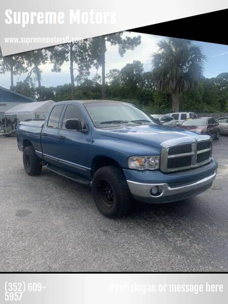 2002 Dodge Ram Pickup 1500 for sale at Supreme Motors in Tavares FL