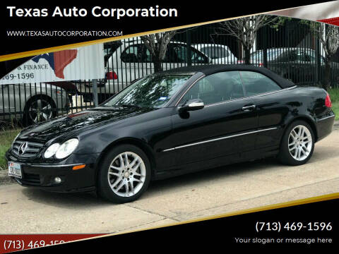 2008 Mercedes-Benz CLK for sale at Texas Auto Corporation in Houston TX