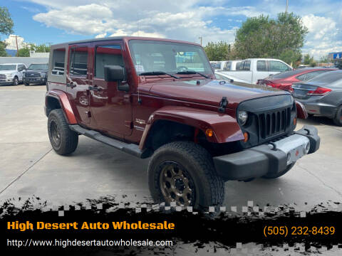 2010 Jeep Wrangler Unlimited for sale at High Desert Auto Wholesale in Albuquerque NM