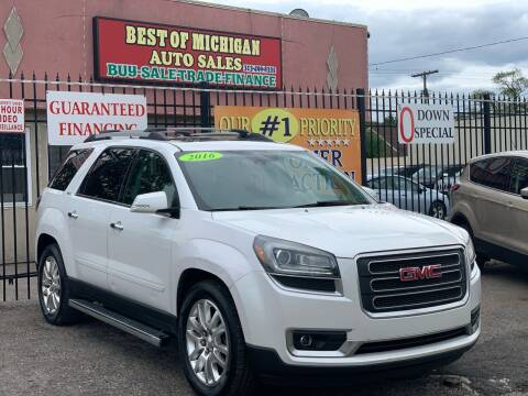 2016 GMC Acadia for sale at Best of Michigan Auto Sales in Detroit MI