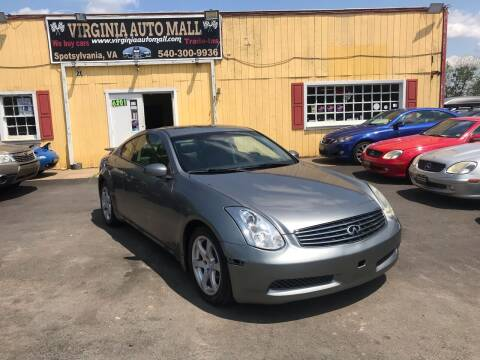 2006 Infiniti G35 for sale at Virginia Auto Mall in Woodford VA