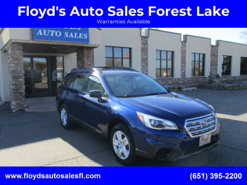 2015 Subaru Outback for sale at Floyd's Auto Sales Forest Lake in Forest Lake MN