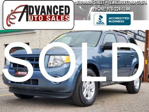 2011 Ford Escape Hybrid for sale at Advanced Auto Sales in Tewksbury MA
