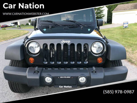 2012 Jeep Wrangler Unlimited for sale at Car Nation in Webster NY