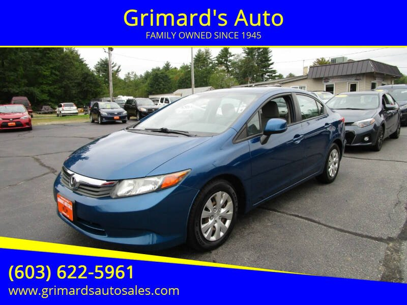 2012 Honda Civic for sale at Grimard's Auto in Hooksett NH
