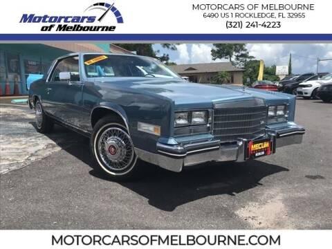 1985 Cadillac Eldorado for sale at Motorcars of Melbourne in Rockledge FL